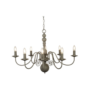 Greythorne Steel 8-Light Chandelier