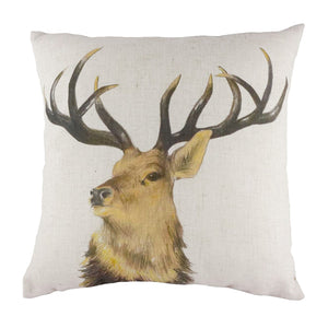 Stag Head Repeat Cushion
