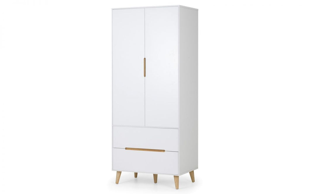 Alicia Scandinavian 2-Door Wardrobe