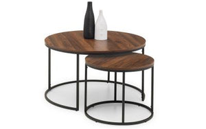 Bellini Round Nesting Coffee Tables - Walnut