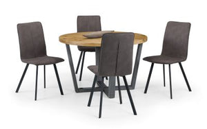 Brooklyn Round Dining Set with 4 Monroe Chairs