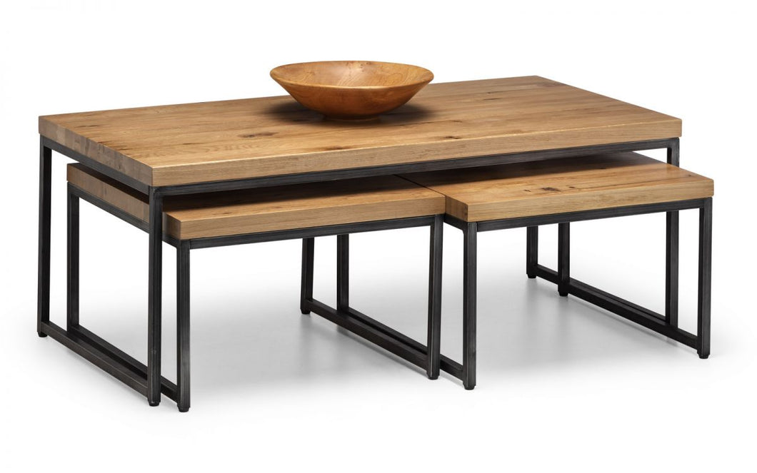 Brooklyn Solid Oak Nesting Coffee Tables