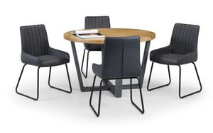 Brooklyn Round Dining Set with 4 Soho Chairs