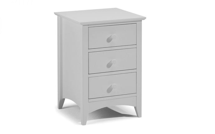 Cameo Grey 3-Drawer Bedside