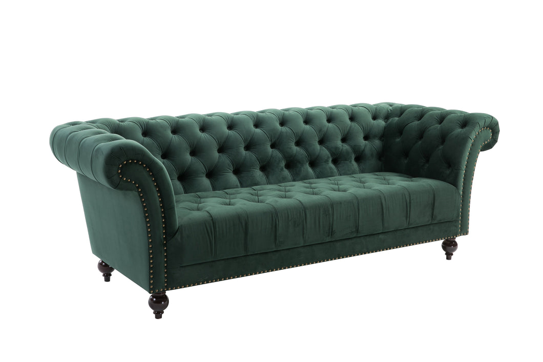 Green 3-Seater Chesterfield Sofa