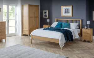 Cadwell Solid Oak Bed