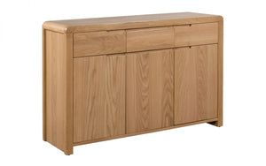 Curve Solid Oak Sideboard