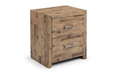 Morgan Solid Acacia 2-Drawer Bedside