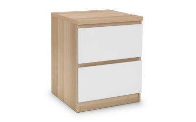 Jupiter Oak and White 2-Drawer Bedside