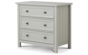 Hampshire Grey Solid Pine 3-Drawer Chest