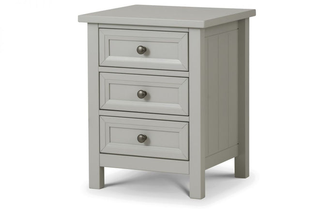 Hampshire Dove Grey 3-Drawer Bedside