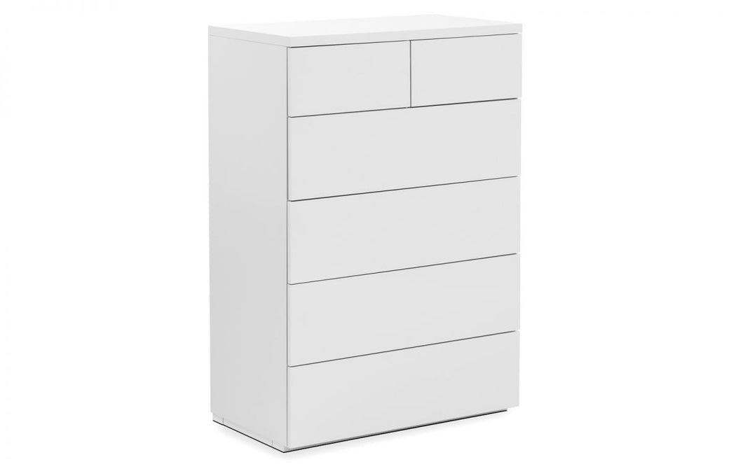 Sebastien White High Gloss 4+2-Drawer Chest