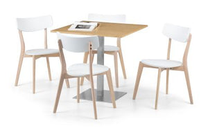 Pisa Oak Dining Set with 2/4 Casa Chairs