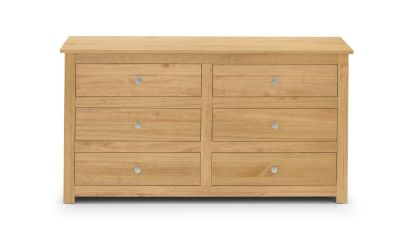 Radley Waxed Pine 6-Drawer Chest