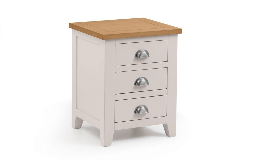 Mayfair Solid Oak 3-Drawer Bedside