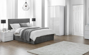 Shadwell Grey Fabric Ottoman Bed