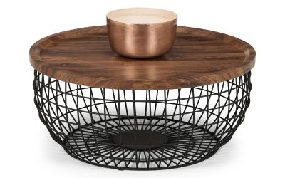 Smithson Round Walnut Coffee Table