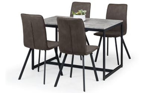 Staten Dining Set with 4 Monroe Chairs