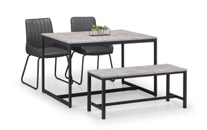Staten Dining Set with Soho Bench/Chairs