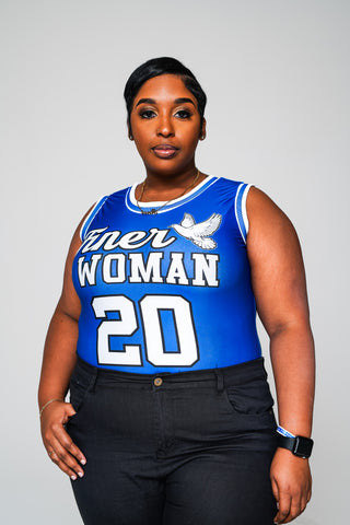 "Zeta ""Finer Woman"" Jersey Bodysuit + - DVN Co."
