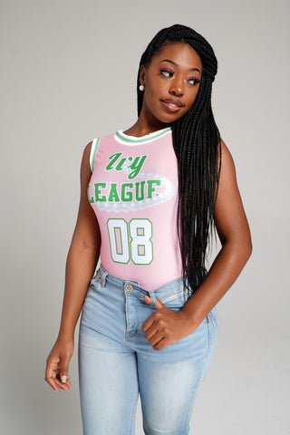 "AKA ""Ivy League"" Jersey Bodysuit - DVN Co."