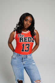 "Delta ""The Redz"" Jersey Bodysuit - DVN Co."