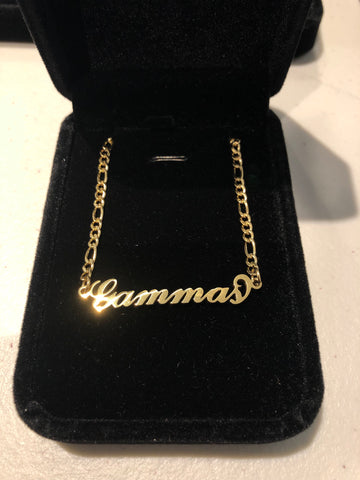 "Gamma ""Gammas"" 18K Gold Plated Necklace - DVN Co."