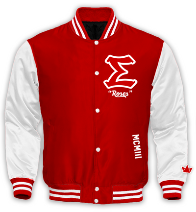 Sigma Alpha Iota Varsity Satin Baseball Jacket - DVN Co.