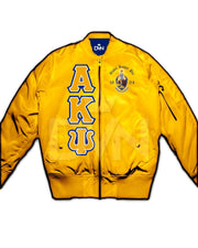 Alpha Kappa Psi Satin Bomber Jacket - DVN Co.