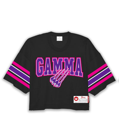 Gamma Oversized Cropped Mesh Football Jersey - DVN Co.