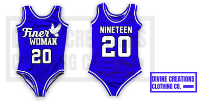 "Zeta ""Finer Woman"" Jersey Bodysuit - DVN Co."