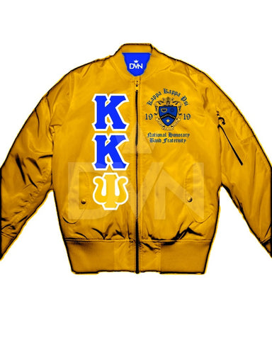 Kappa Kappa Psi Satin Bomber Jacket (Custom) - DVN Co.