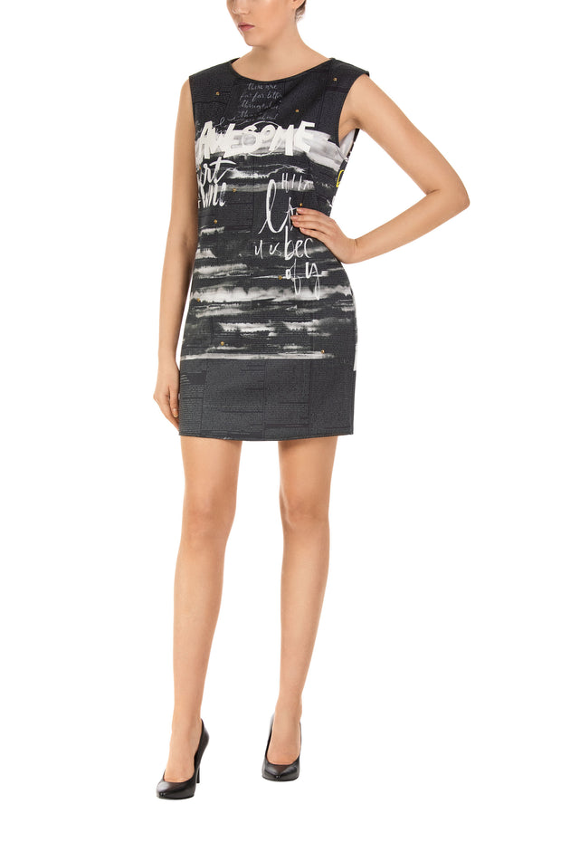 Awesome Wave Mini Shift Dress