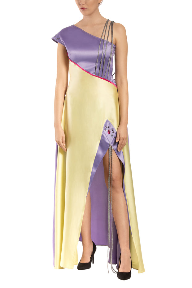 Calla Lily Asymmetrical Maxi Dress
