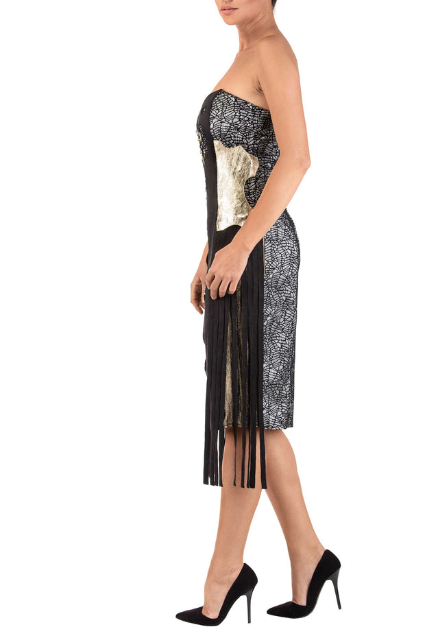Eliptic Strapless Midi Dress
