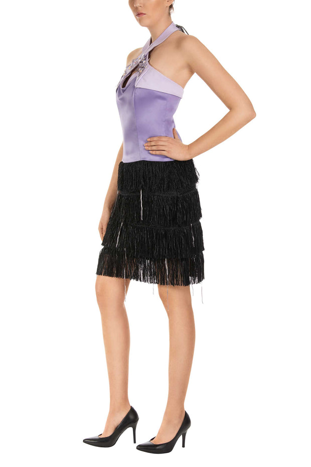 Freesia Fringe Sheath Dress