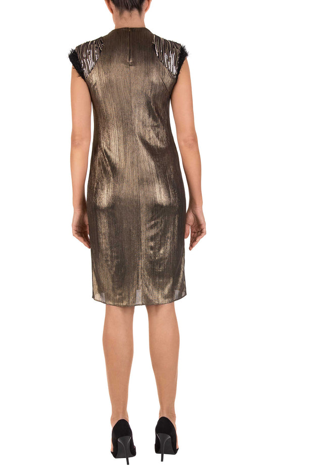 Gilt Gold Sleeveless Shift Dress