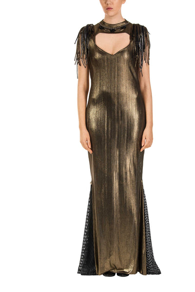 Golden Grace Maxi Dress