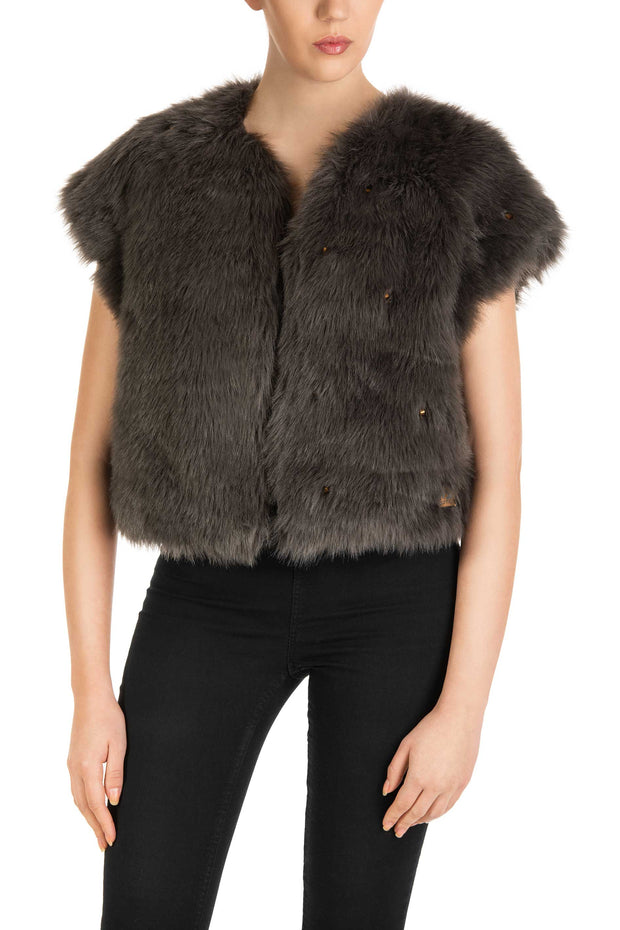 Grey Dream Faux Fur Vest