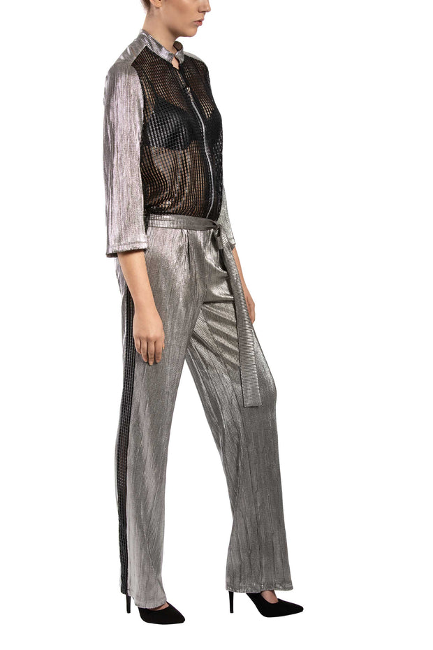 Silver Fab Long Sleeve Jumpsuit