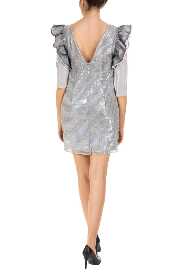 Snow Queen Silver Shift Dress