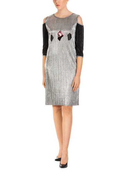 Triptih Silver Shift Dress