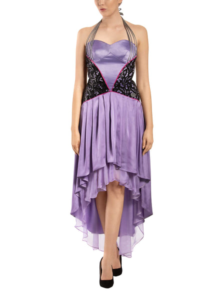 Violet Rose High-Low Silk Dress