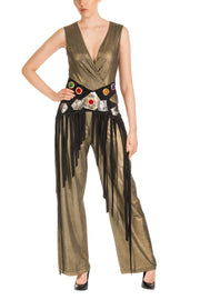 Wild Flora Sleeveless Jumpsuit