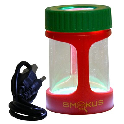 Smokus Focus Stash Jar Rasta Display Jar