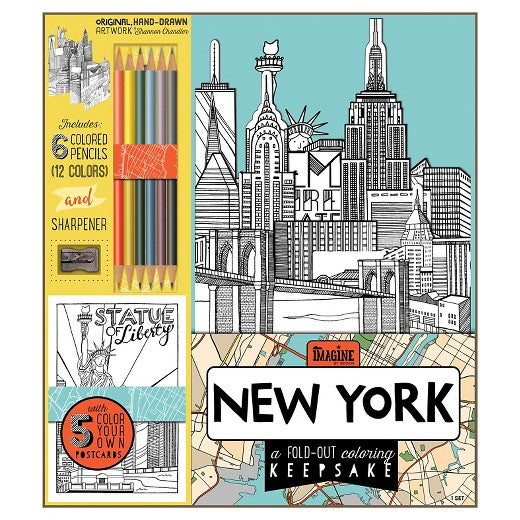 Fold Out NYC Coloring Kit - Bargain Concept