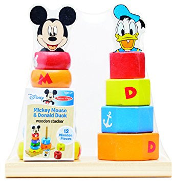 Disney Baby Mickey Mouse and Donald Duck Wood Stacker - Bargain Concept