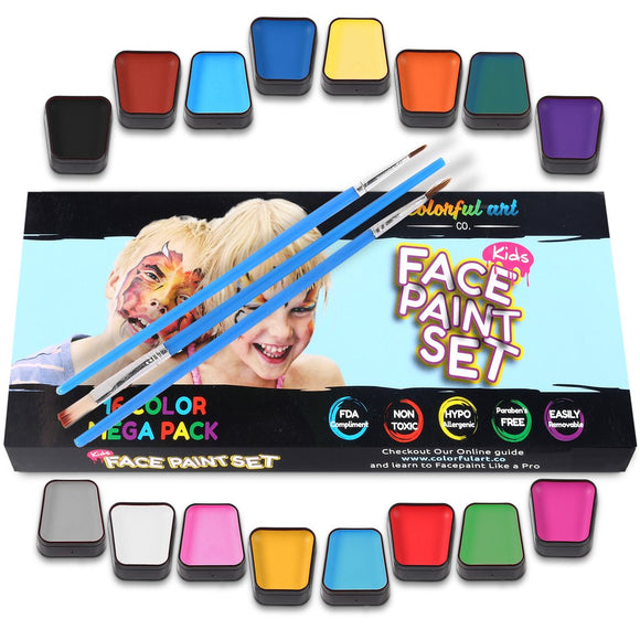 Colorful Art Kids Face Paint Kit - Bargain Concept