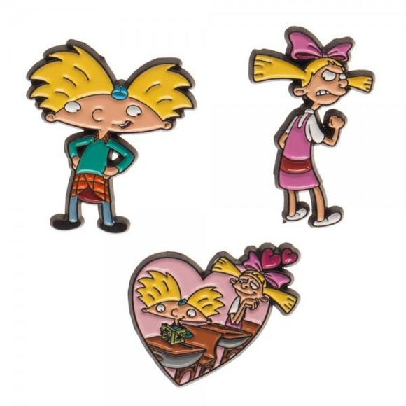 Hey Arnold Lapel Pin 3 Pack - Bargain Concept