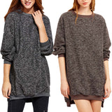 Women Blouse Winter Warm Long Sleeve O Neck Knitwear Pullover - Bargain Concept